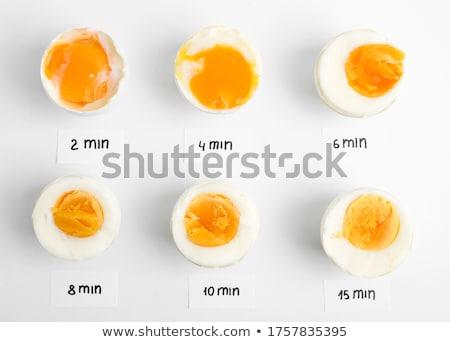 Yumurta beyaz yumurta sarısı bir tavuk renk Stok fotoğraf © ondrej83