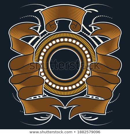 királyi · griffmadár · címer · terv · művészet · sziluett - stock fotó © creative_stock