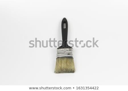 Green brush stroke forming a zigzag against a white background Stock photo © wavebreak_media
