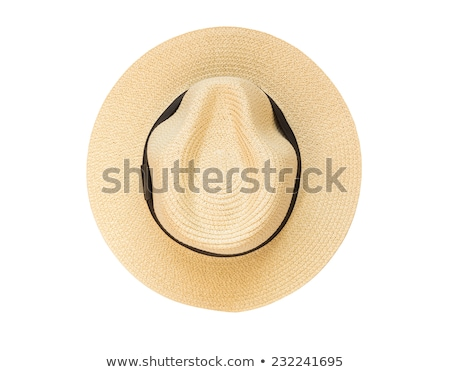 The fashionable Panama hat with white background. Stock photo © shutswis