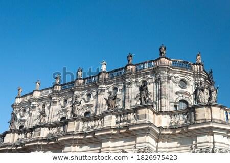 szobor · Drezda · híres · barokk · király · égbolt - stock fotó © elxeneize
