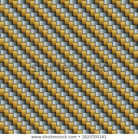 Woven Gold and Silver. Seamless Texture. Stock photo © tashatuvango