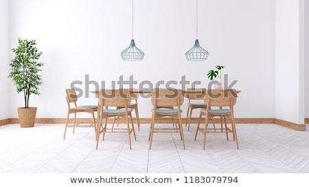 oda · aile · ev · kahve · tablo · mobilya - stok fotoğraf © paha_l