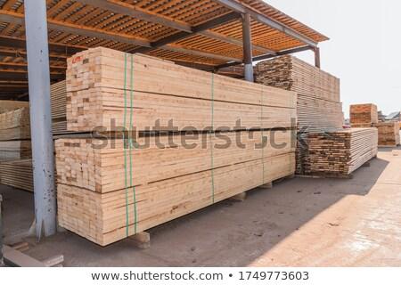 tarcica · brązowy · czerwony · fabryki · mętny · niebo - zdjęcia stock © inxti