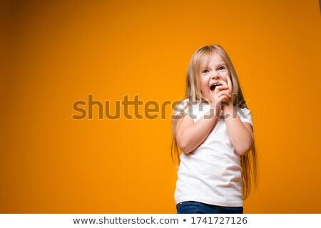 幸せ 小さな 子 白 かわいい 孤立した ストックフォト © gewoldi