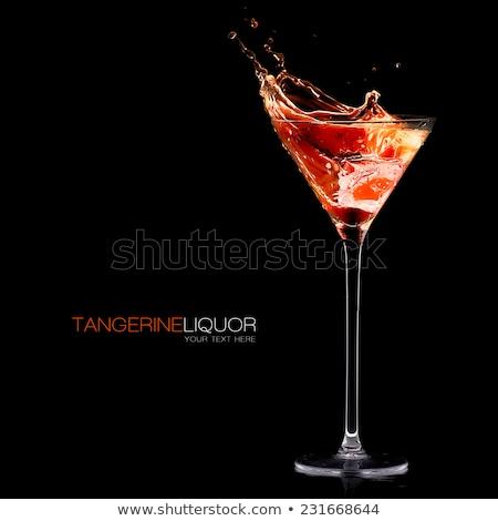 Martini glass líquido transparente incolor isolado branco Foto stock © snyfer