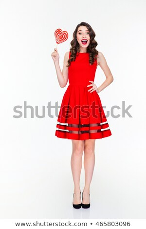 魅力的な 笑みを浮かべて 女性 ロリポップ ストックフォト © Discovod