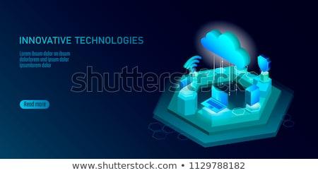 ウェブサイト · 青 · バーチャル · スペース · インターネット · コンピュータ - ストックフォト © marinini
