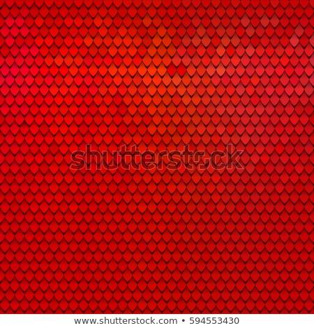 Kırmızı sürüngen cilt doku mavi baskı Stok fotoğraf © ArenaCreative