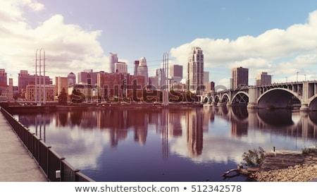 Centro da cidade Minnesota manhã famoso pedra arco Foto stock © AndreyKr
