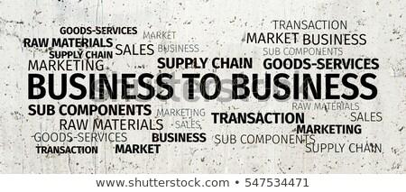 b2b · にログイン · ビジネス · 孤立した · 白 - ストックフォト © tashatuvango