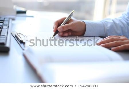 Eller işadamı notlar kalem iş el Stok fotoğraf © jakubzak