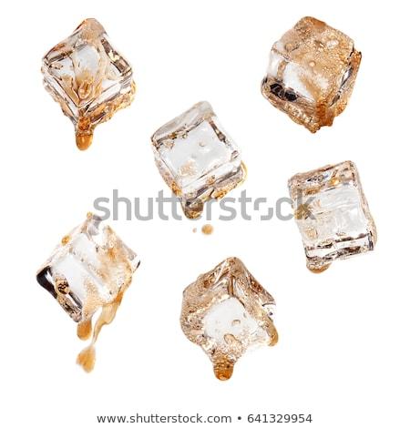 Kóla jégkockák víz étel üveg narancs Stock fotó © Kheat