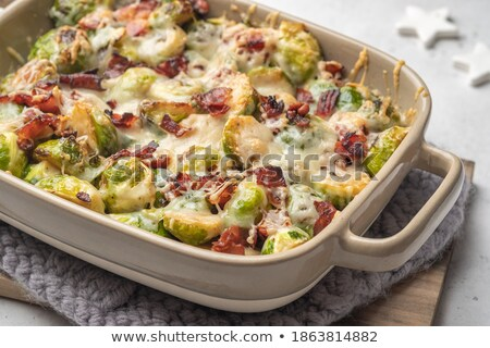 brussels sprouts casserole stock photo © zhekos