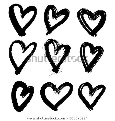 Festett szív absztrakt festék felirat ajándék Stock fotó © oly5
