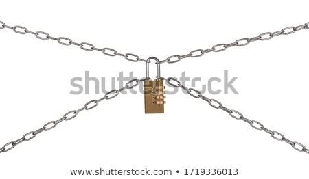 combinação · cadeado · isolado · tornar · branco · dinheiro - foto stock © cherezoff