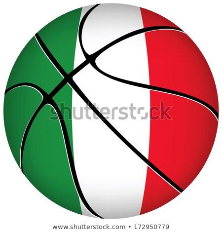 3D koszyka piłka italian flag biały eps Zdjęcia stock © Istanbul2009