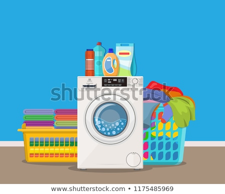 чистой · стиральная · машина · красочный · воды - Сток-фото © neirfy