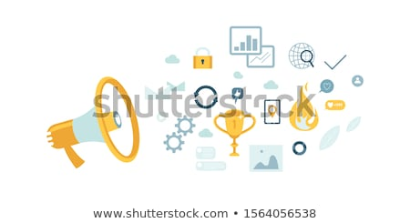 Bedrijf nieuws Geel ontwerp vintage lang Stockfoto © tashatuvango
