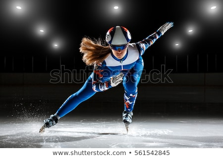 Ijs skater track drugs vorm snelheid Stockfoto © Fisher