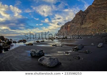 Tenerife kartpostal görmek plaj gökyüzü Stok fotoğraf © ChilliProductions
