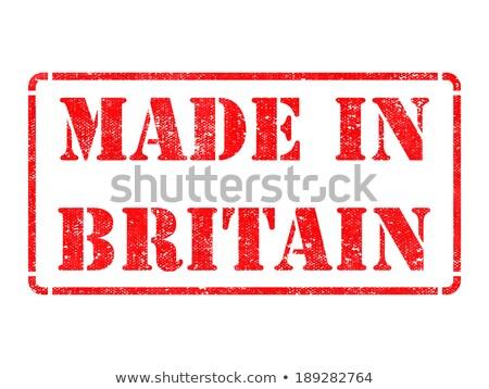 Made in Britain - inscription on Red Rubber Stamp. Stock photo © tashatuvango