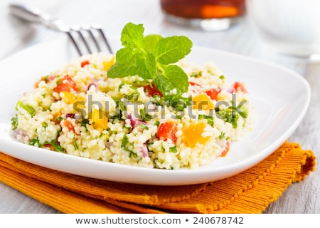 tabbouleh made of couscous and various vegetables Stock photo © franky242