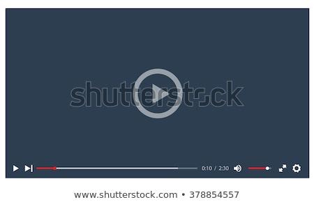 Videó játékos média háló mobil appok Stock fotó © kiddaikiddee