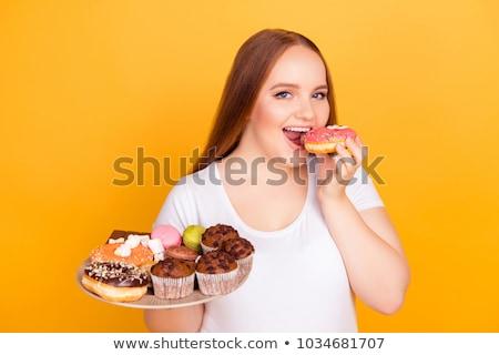 счастливым жирный женщину азиатских Открытый Сток-фото © Witthaya