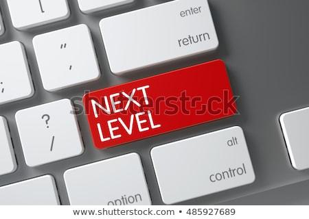 次 レベル 赤 キーボード ボタン ストックフォト © tashatuvango