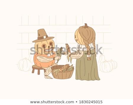 pumpkin in a festive suit Stock photo © valpict