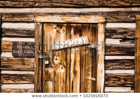 木材 キャビン コロラド州 山 自然 山 ストックフォト © emattil