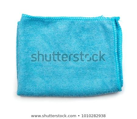 Blue microfiber duster macro background Stock photo © njnightsky