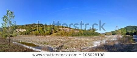 谷 · 川 · 孤独 · 家 · パノラマ · 表示 - ストックフォト © eddygaleotti