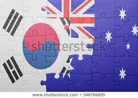 Australia and South Korea Flags in puzzle Stock photo © Istanbul2009