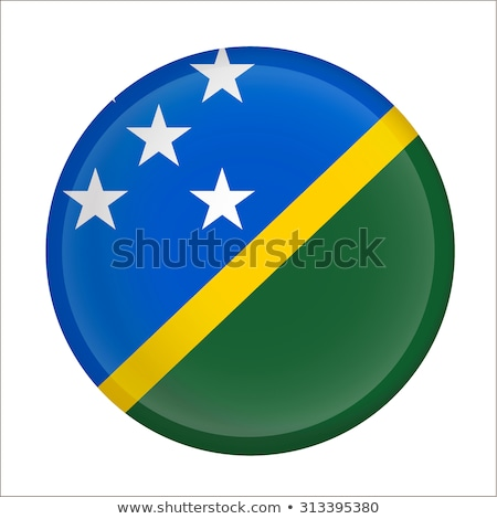 Round sticker with flag of solomon islands Stock photo © MikhailMishchenko