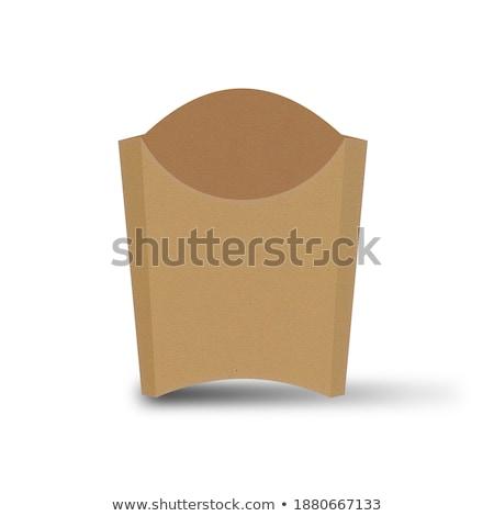 Caixa restaurante branco comer almoço Foto stock © tang90246