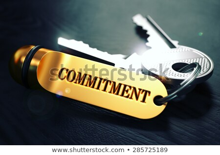 Keys with Word Commitment on Golden Label. Stock photo © tashatuvango