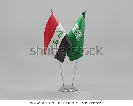 Arábia Saudita Iraque bandeiras quebra-cabeça isolado branco Foto stock © Istanbul2009