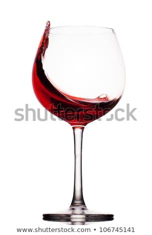 Garrafa vidro vinho tinto isolado branco álcool Foto stock © tetkoren