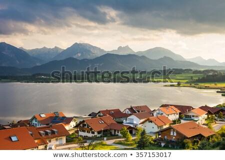 Village Of Hopen In The Alps Of Bavaria Zdjęcia stock © manfredxy