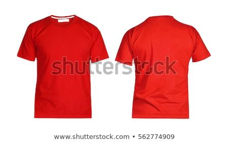 Сток-фото: красный · футболки · изолированный · белый · моде · дизайна