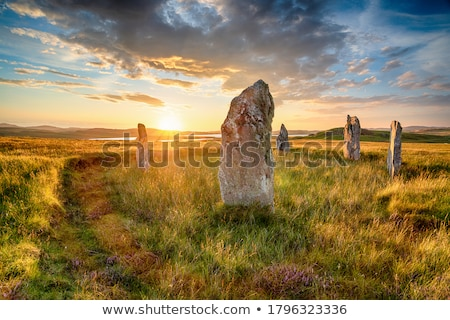 evening landscape with stone stock photo © kotenko