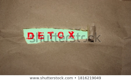 Time to Detox Torn Paper Concept Stock photo © ivelin