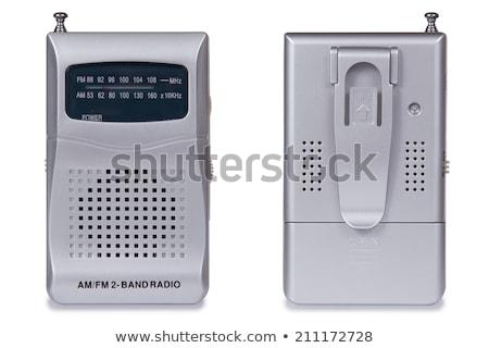 Hordozható rádió izolált fehér technológia mikrofon Stock fotó © shutswis