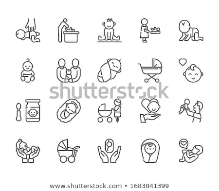 Breastfeeding line icon. Stock photo © RAStudio