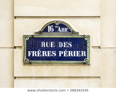 Paris, rue des freres perier old street sign Stock photo © meinzahn
