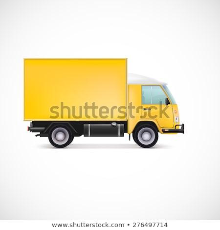 Jaune camion de livraison isolé blanche van Photo stock © Kzenon