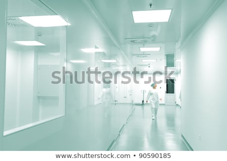 Scientists and doctors at modern pharmaceutical factory Stock photo © zurijeta