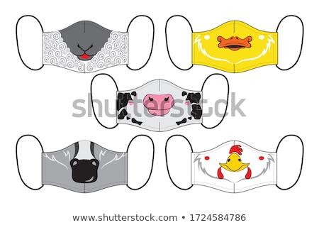 Stockfoto: Gans · blij · gezicht · illustratie · ontwerp · kunst · vogel